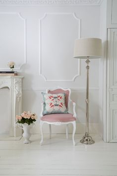 A peek into our lovely boutique showroom #Frenchbedroomcompany #Frenchbedrooms #Romanticbedrooms #Floorlamp