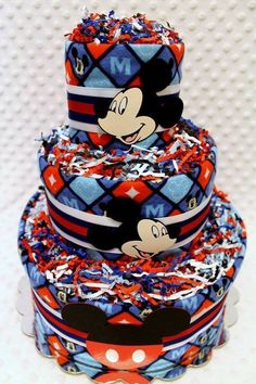 Mickie Mouse diaper cake