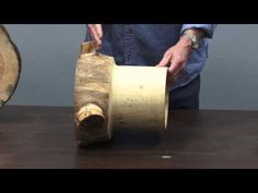 ▶ Woodturning: How to Cut Logs for Turning - YouTube