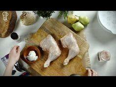 Pollo asado con peras y ciruelas vídeo receta | Demos la vuelta al día