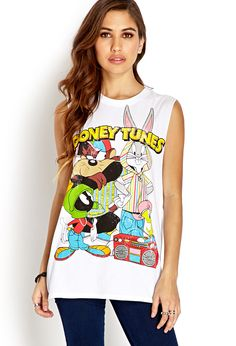 Throwback Looney Tunes Muscle Tee | FOREVER21 Going looney over graphic tees #MustHave #LooneyTunes