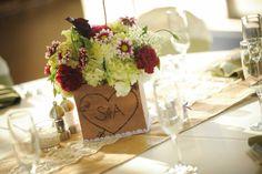 Simple yet elegant - DIY wedding table centerpiece