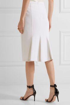 Max Mara - Pleated Stretch-wool Midi Skirt - Ivory - UK