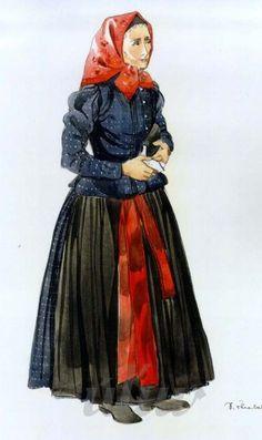 Ľudový odev, Slovakia Folk Costume, Costumes, Indigo, Disney Characters, Fictional Characters, Tulle, Disney Princess, Skirts, Inspiration