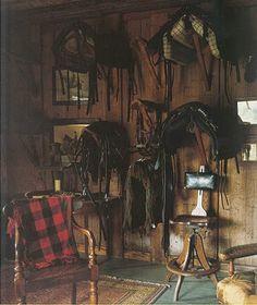 "Homey tack room.   From ""Tartan: Romancing the Plaid"" by Jeffrey Banks & Doria de La Chapelle"
