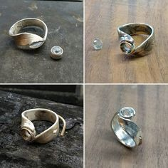 verlobungsring gross Heres a breakdown of the process that I go through in making my Wrapped Bodhi Leaf Ring from start to finish. Its a difficult design to Soldering Jewelry, Jewelry Tools, Jewelry Art, Jewelry Rings, Jewelery, Jewelry Design, Fashion Jewelry, Silver Jewelry Box, Gold And Silver Rings