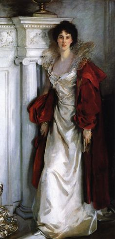 Winifred, Duchess of Portland John Singer Sargent (American, Oil on canvas. In the full length portrait, the Duchess of Portland is standing, book in hand. She wears an elaborate. Chef D Oeuvre, Oeuvre D'art, Beaux Arts Paris, The Duchess, Portraits, Edwardian Era, Elizabethan Era, Woman Painting, Painting Art