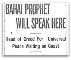 Bahá'í Prophet Will Speak Here