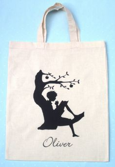 Personalised bag library bag by houseofmasen on Etsy, $15.00