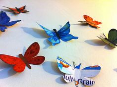 Cereal Box Butterflies