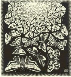 M.C. Escher - I'd luv this as tattoo minus the black background though.