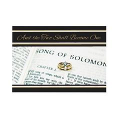 Christian #Religious Scripture #Wedding #Invitation Song of Solomon By dbvisualarts