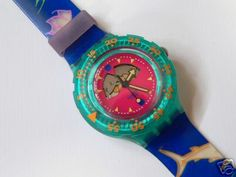 1991 Happy Fish Scuba 200 Swatch Watch USA release V1
