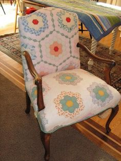Image result for chairs covered with quilts