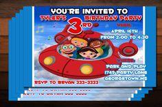 Little Einsteins Birthday Party Invitations - Custom and Print on Etsy, $9.00