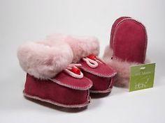 chaussons bébé + moufles agneau naturel 100% cuir laine fourré mouton 0-8 MOIS