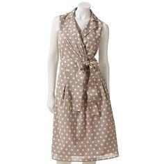 "Croft and Barrow Printed Pleated Surplice Dress--- ""pretty woman"" dress!!!"
