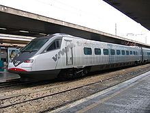 Pendolino train is an Italian family of tilting trains that can go around curves designed for slower trains at higher speeds without causing undue discomfort to passengers.