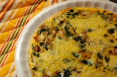 blank canvas crustless quiche - add whatever you want for breakfast/lunch/dinner in a pinch!