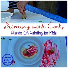 Teaching 2 and 3 Year Olds: Preschool Art: Stamping with Milk Paint