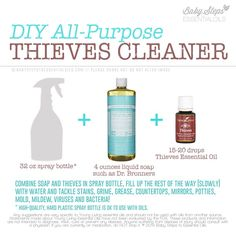 Thieves Cleaner - I LOVE MY THIEVES!! Thieves Essential Oil, Essential Oils Cleaning, Essential Oil Uses, Essential Oil Cleaner, Young Living Oils, Young Living Essential Oils, Young Living Products, Young Living Thieves, Thieves Cleaner