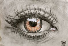 """Saatchi Art is pleased to offer the drawing, """"The Eye,"""" by Sonia Stewart. Original Drawing: Pencil on Paper. Pencil Drawing Tutorials, Pencil Drawings, Art Drawings, Painting Tutorials, Eyes Artwork, Art Prints Online, Color Pencil Art, Portraits, Eye Art"""