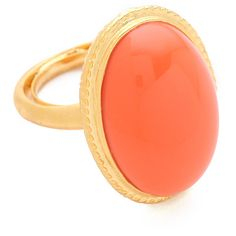 Kenneth Jay Lane Oval Cabochon Ring ($55) ❤ liked on Polyvore