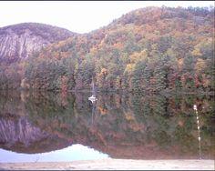 What a fall scene at Fairfield Lake, Sapphire, NC