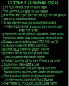 15 Type 1 Diabetes Facts