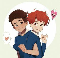 Read Jonathan x Sherwin from the story Yaoi is AWESOME! Jonathan and Sherwin are from In a h. Lgbt Anime, Yuri, Haikyuu, Mini Comic, Lgbt Love, Wow Art, Gay Couple, Fujoshi, Cute Love