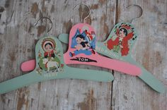 Antique Nursery Wooden Hangers Painted with Nursery by WISHmyWISH, $22.00