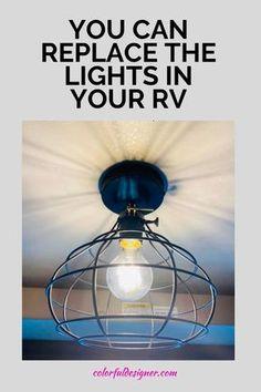 Rv Lighting Fixtures, Camper Lights, Travel Trailer Remodel, Camper Renovation, Rv Interior Remodel, Airstream Interior, Diy Camper, Camper Ideas, Camper Life