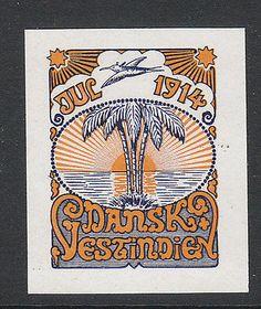 1914 D.w.i Danish West India Christmas Seal