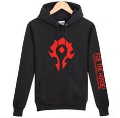 World of Warcraft for the horde fleece hoodie for men XXXL pullover sweatshirt
