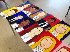 Julian Opie inspired portraits