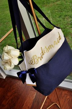 Navy Bridesmaid B – Confetti Momma Best Bridesmaid Gifts, Bridesmaid Tote Bags, Personalized Bridesmaid Gifts, Custom Tote Bags, Personalized Tote Bags, Monogram Tote Bags, Gifts For Wedding Party, Bridal Gifts, Wedding Ideas