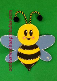 Con las manitas pintadas: How to make a beautiful bee with EVA foam