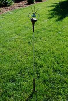 Golf Driver Bird Garden Poke recycled garden art by nbillmeyer