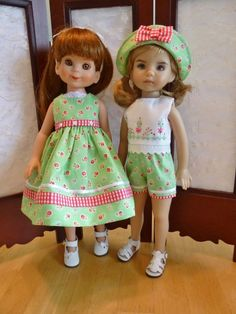 "Green Outfit for Effner13"" Little Darling & Betsy McCall Tonner Doll by Apple"