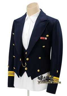 WW2 German Kriegsmarine Blue Mess Dress Tunic-On Unionmilitaria