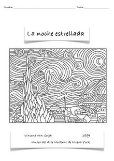 Plastica - carmenan PRIMARIA - Picasa Web Albums Art Van, Van Gogh For Kids, Art For Kids, Coloring For Kids, Coloring Pages, Arte Van Gogh, Van Gogh Paintings, Summer Crafts For Kids, Joan Miro