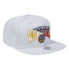 fdabf96db55b3 Golden State Warriors Mitchell   Ness Filipino Heritage Hardwood Classics  Flat Brim Snapback Hat - Grey