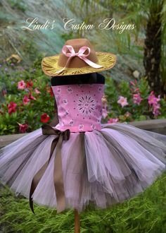 """Pink Paisley Cowgirl Tutu Costume for girls up to 5T or a 23"""" Chest Measurement perfect for Parties, Dress-Up, Costume, Pageants"""