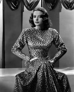 Forties Hollywood star Jane Greer in the most amazing leopard print gown