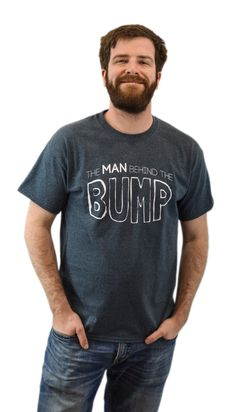 The Man Behind the Bump   Proud New Father Pregnancy Dad Unisex T-shirt-X-Large