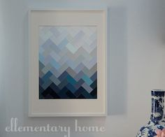 "DIY - Paint Chip Art ""Ombre Herringbone"" Style - Full Step-by-Step Tutorial"