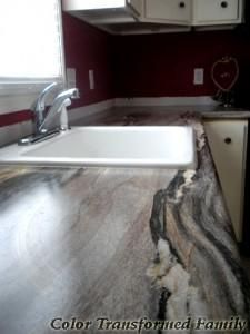 Formica 180fx Dolce Vita as shown here in Color Transformed Family's renovation