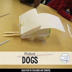 STEM Challenge for first graders- build a robot dog!