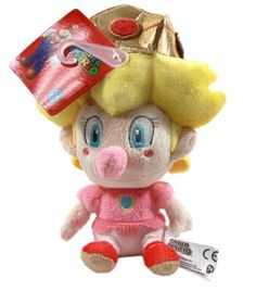 Baby Peach is a minor character in the Mario series designed to be the toddler counterpart of Princess Peach. NEW Official Super Mario Bros Nintendo USA Baby Peach Plush Toy Doll Stuffed! Super Mario 5, Super Mario Bros Nintendo, Mario Toys, Mario Bros., Bloom Winx Club, Baby Princess, Princess Peach, 5 Babies, Sewing Dolls