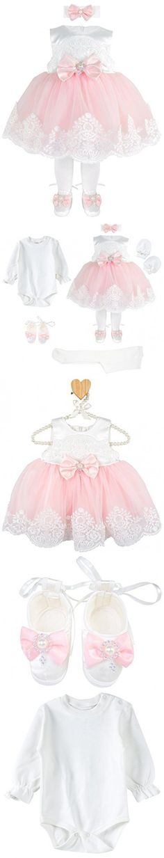 f1d967138 T.F. Taffy Taffy Baby Girl Newborn Pink Embroidered Princess Pageant Dress  Gown 6 Piece Deluxe Set